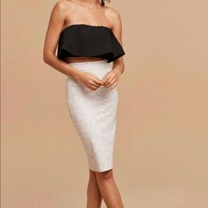 Wilfred Lis Pencil Skirt in Heather White XS